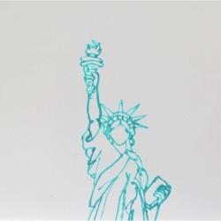 Статуя Свободы - шаблон трафарет для 3Д ручки