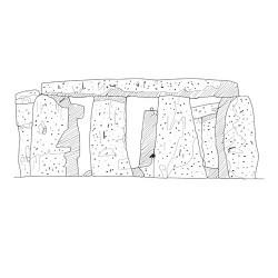 Стоунхендж - шаблон трафарет для 3Д ручки