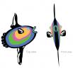 Солнечная рыба - шаблон трафарет для 3Д ручки