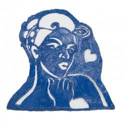 Трафарет девушки для рисования - шаблон трафарет для 3Д ручки