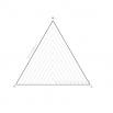 Пирамида различных размеров - шаблон трафарет для 3Д ручки