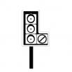 Светофор - шаблон трафарет для 3Д ручки