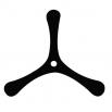 Бумеранг трехлепестковый - шаблон трафарет для 3Д ручки