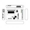 Плеер Sony Walkman - шаблон трафарет для 3Д ручки