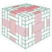 Плетеная коробочка 2 - шаблон трафарет для 3Д ручки