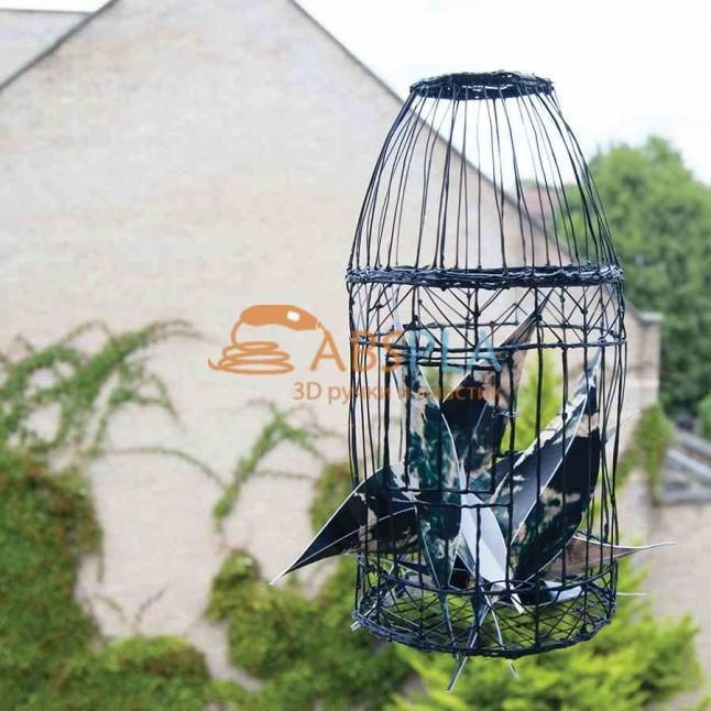 Клетка для птицы - шаблон трафарет для 3Д ручки