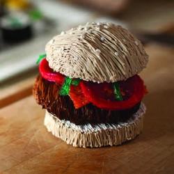 Гамбургер - шаблон трафарет для 3Д ручки
