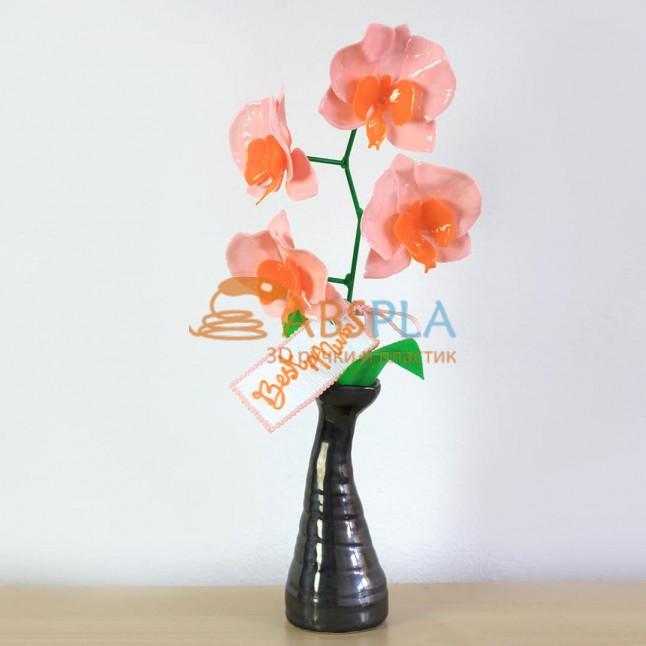 Орхидея для мам - шаблон трафарет для 3Д ручки