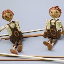 Винтажные куклы - шаблон трафарет для 3Д ручки