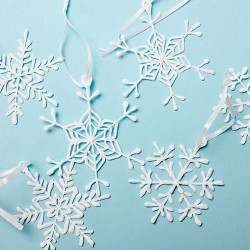 Снежинки - шаблон трафарет для 3Д ручки