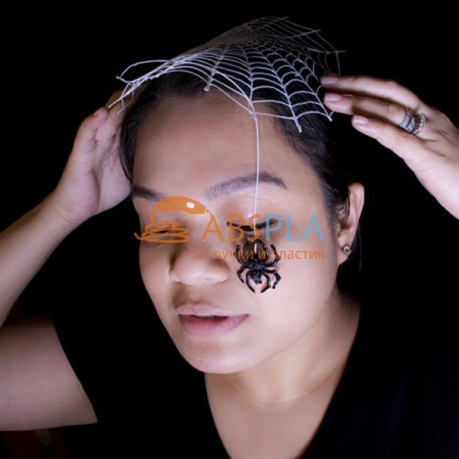Паук на паутине - шаблон трафарет для 3Д ручки