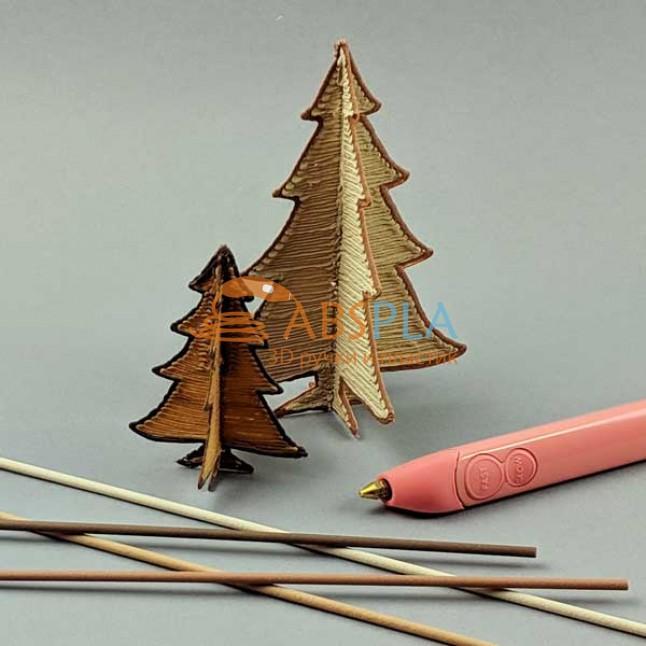 Декоративные деревья - шаблон трафарет для 3Д ручки