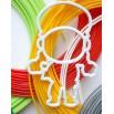 Набор PLA пластика 90 метров и 3D трафареты Бравлеры