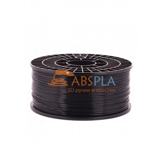 Черный PLA пластик 1кг. на катушке