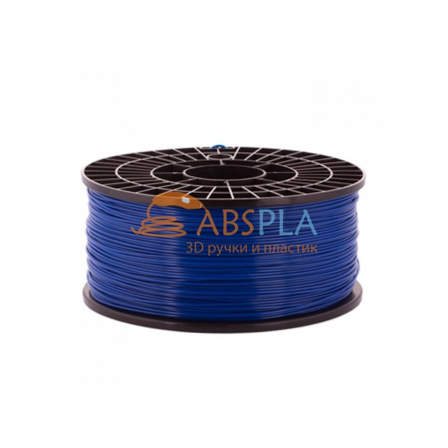 Синий PLA пластик 1кг. на катушке