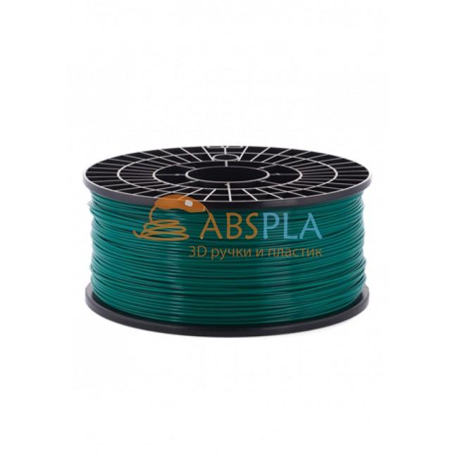 Зеленый PLA пластик 1кг. на катушке