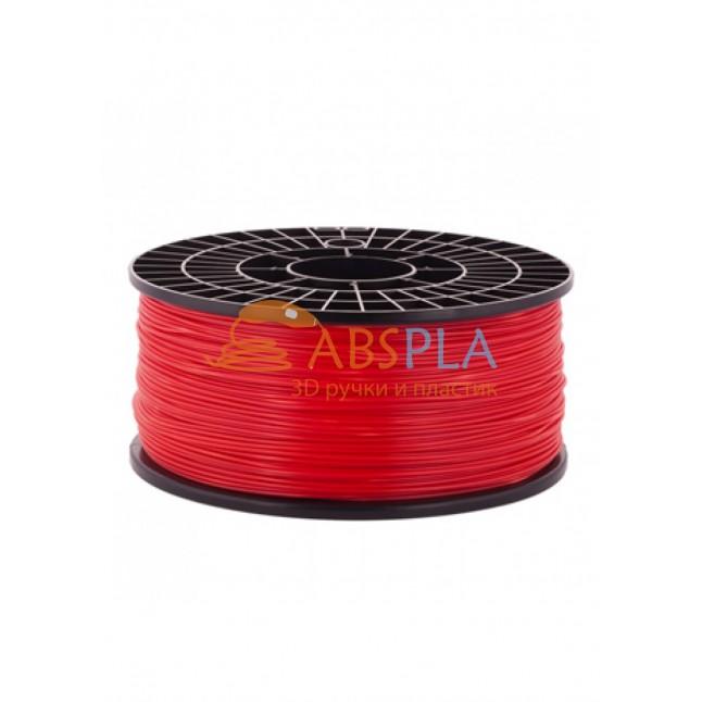 Красный PLA пластик 1кг. на катушке