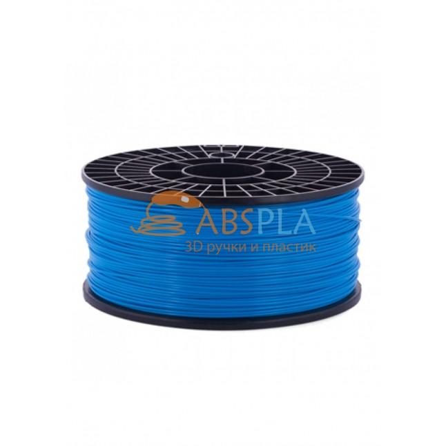 Голубой PLA пластик 1кг. на катушке