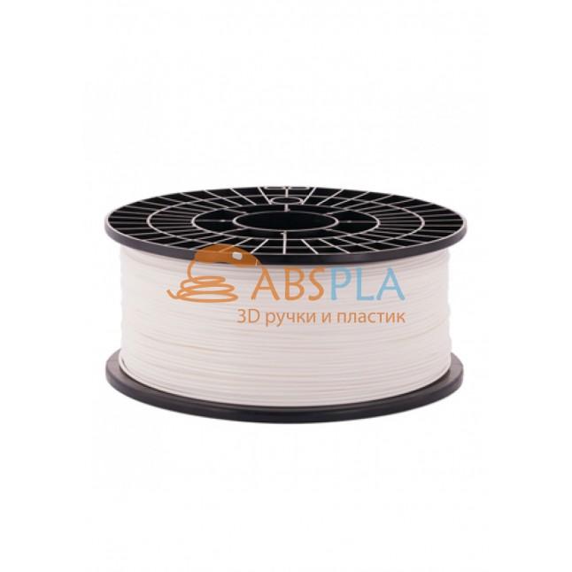 Белый PLA пластик 1кг. на катушке