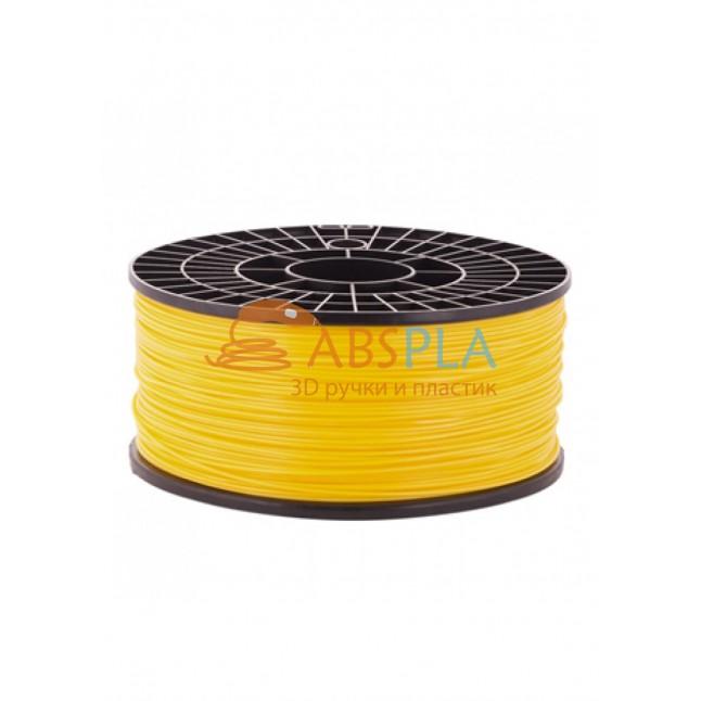 Желтый PLA пластик 1кг. на катушке