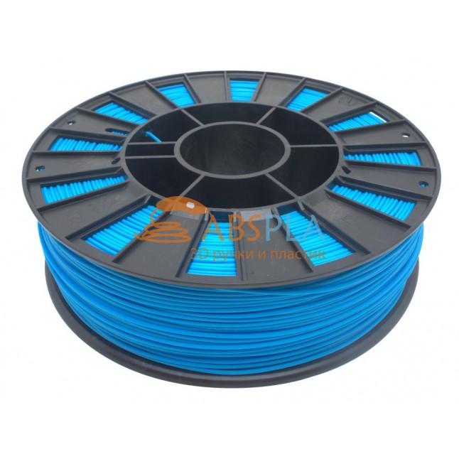 Голубой PLA пластик 300м. на катушке