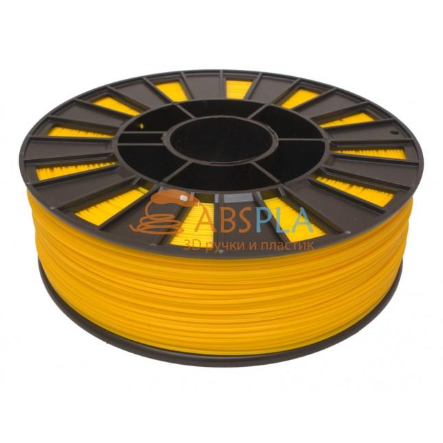 Желтый PLA пластик 300м. на катушке