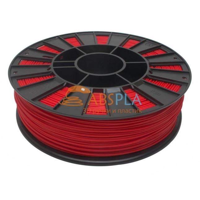 Красный PLA пластик 300м. на катушке