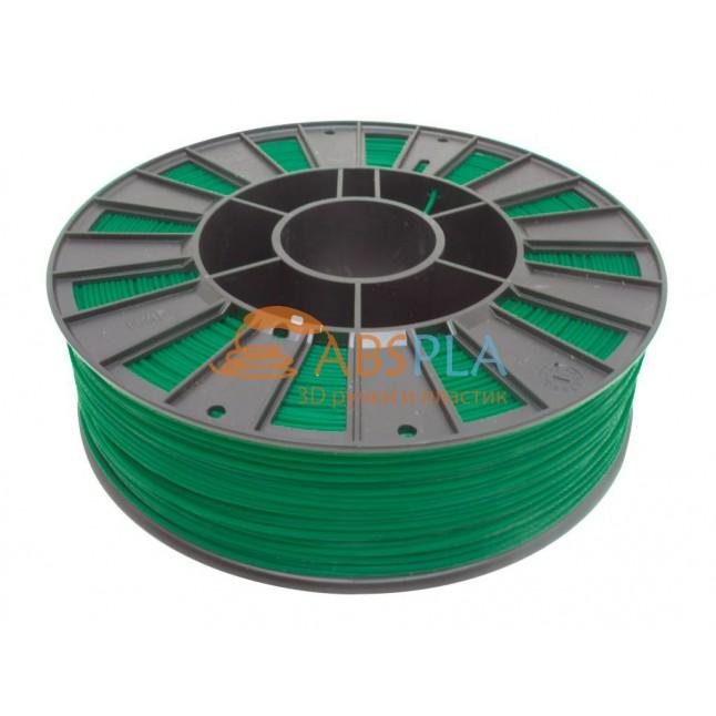 Зеленый PLA пластик 300м. на катушке
