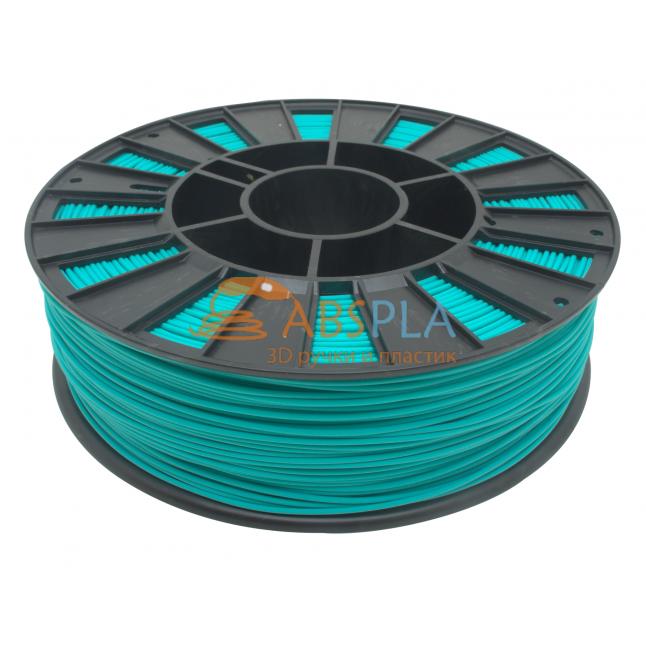 Бирюзовый PLA пластик 300м. на катушке