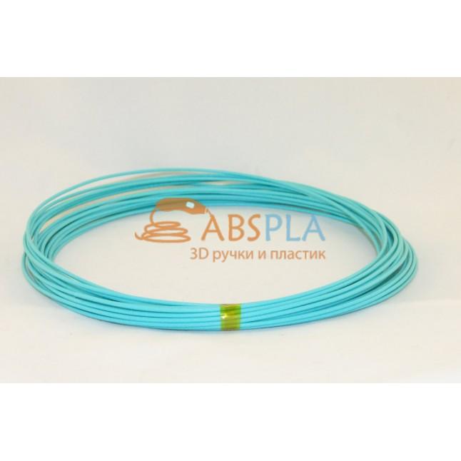 Бирюзовый пластик PLA 10 метров