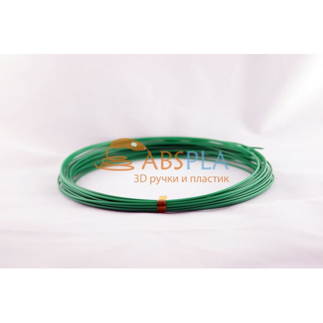 Зеленый пластик PLA 10 метров