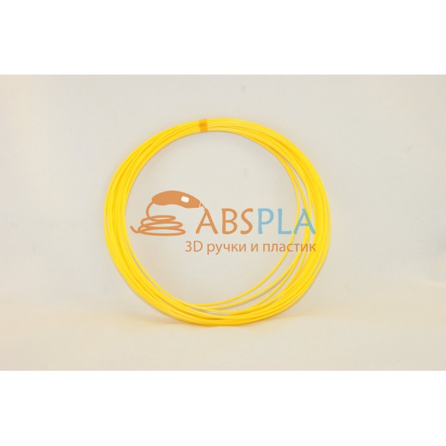 Желтый пластик ABS 10 метров