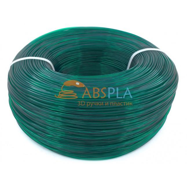 Моток изумрудного PLA пластика 1.2 кг ~ 400 м.