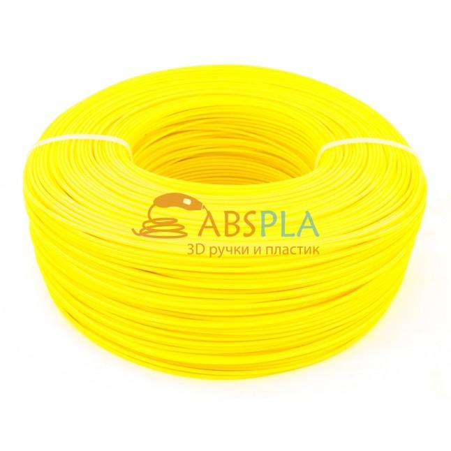 Моток желтого PET-G пластика 1.3 кг ~ 400 м.