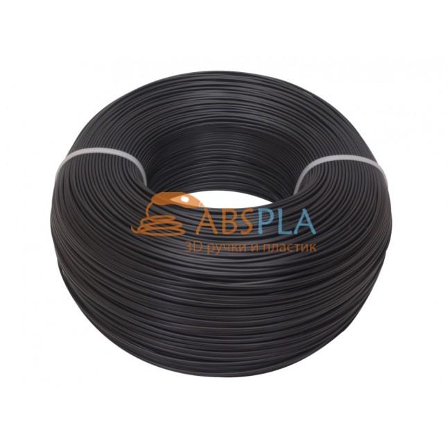 Моток черного PLA пластика 1.15 кг ~ 400 м.
