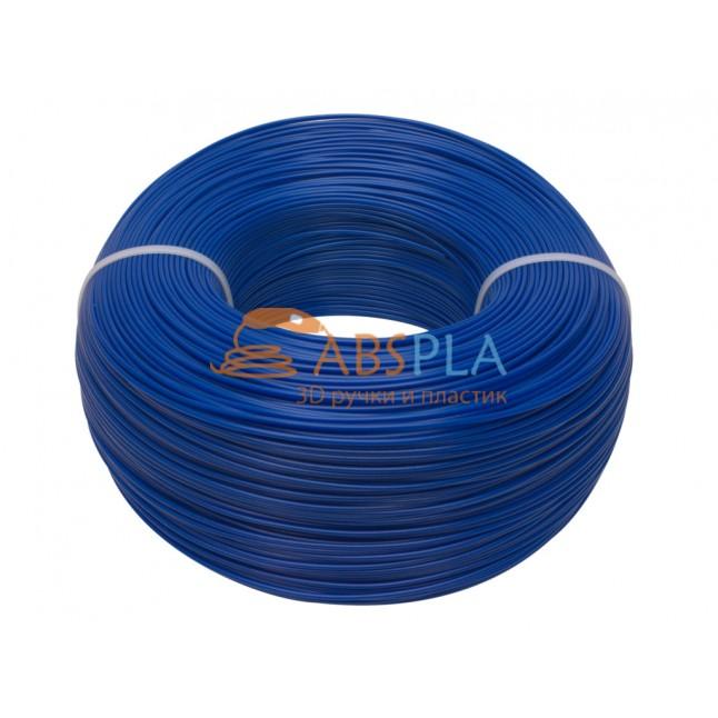 Моток синего PLA пластика 1.15 кг ~ 400 м.