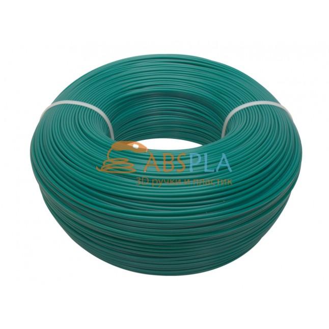 Моток зеленого PLA пластика 1.2 кг ~ 400 м.
