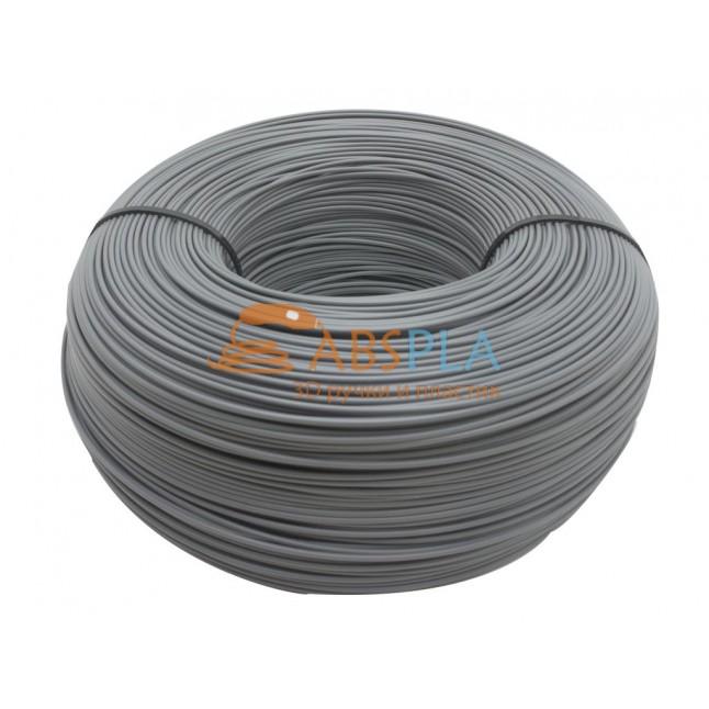 Моток серого PLA пластика 1.15 кг ~ 400 м.