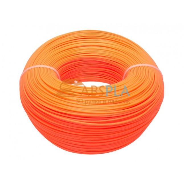 Моток оранжевого PLA пластика 1.2кг ~ 400 м.