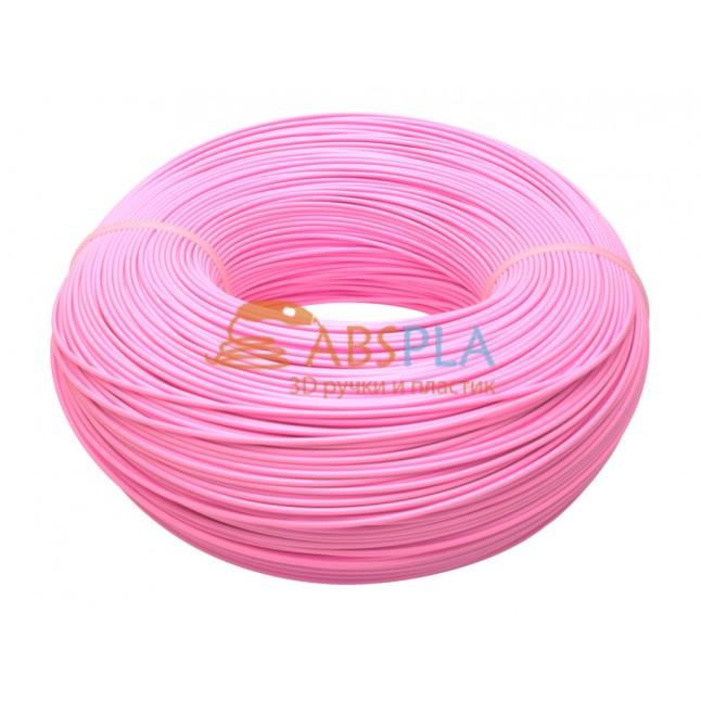Моток розового PLA пластика 1.15 кг ~ 400 м.