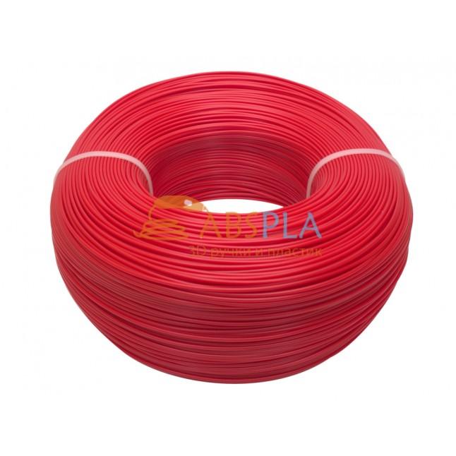 Моток красного PLA пластика 1.2 кг ~ 400 м.