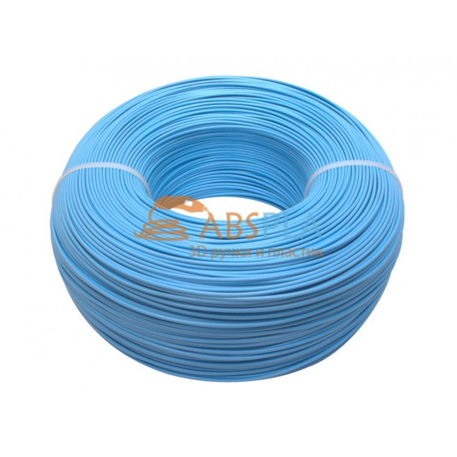 Моток голубого PLA пластика 1.2 кг ~ 400 м.