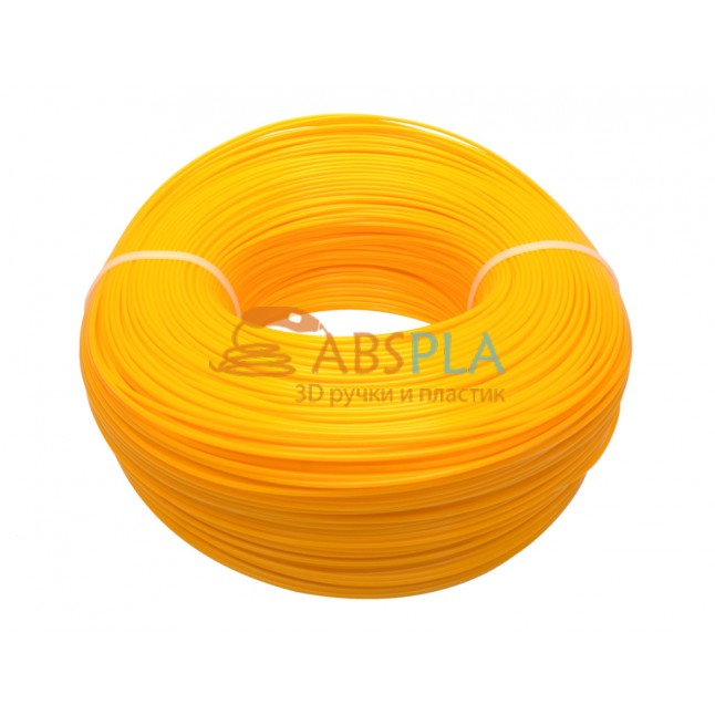 Моток желтого PLA пластика 1.2 кг ~ 400 м.