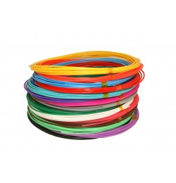 Набор цветного PLA пластика для 3D ручки 85 метров 17 цветов